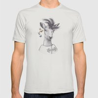Fashion Deer Mens Fitted Tee Silver SMALL