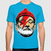 Zissou Stardust Mens Fitted Tee Teal SMALL