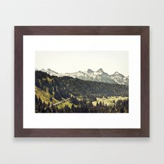 Epic Drive Through The M… Framed Art Print
