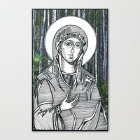 Madonna of the Birches Canvas Print