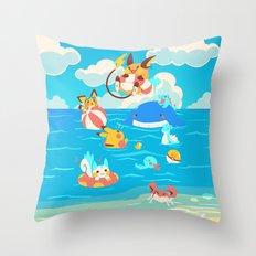 Splash Attack Throw Pillow