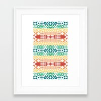 Tribal Pattern Framed Art Print