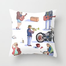 Music Poster! Throw Pillow