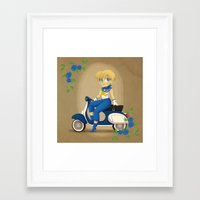 Retro Sailor Uranus Framed Art Print