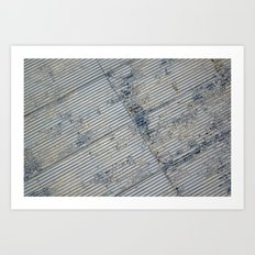 Warehouse District -- Rustic Farm Chic Abstract Art Print