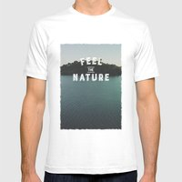 Feel The Nature Mens Fitted Tee White SMALL