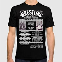 #8-B Memphis Wrestling W… Mens Fitted Tee Black SMALL