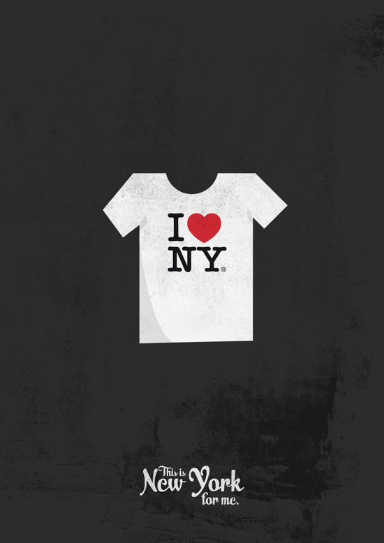 "This is New York for me. ""I love NY tee"" Art Print"