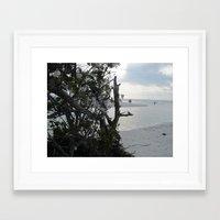 Shell Trees Framed Art Print
