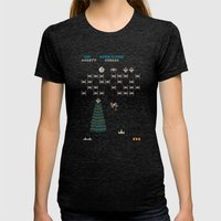 Star Walagas Womens Fitted Tee Tri-Black SMALL