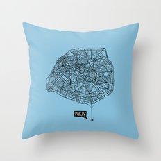 Spidermaps #1 Dark Throw Pillow