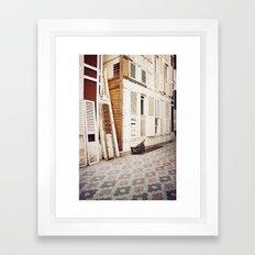 wooden shutters Framed Art Print