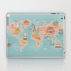 World Map Cartoon Style Laptop & iPad Skin