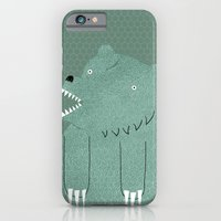 iPhone Cases featuring Friendly Bear by Sarajea