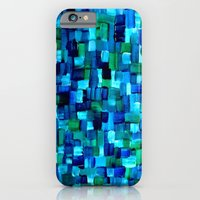 Abstract Tiles of Blue and Green iPhone 6 Slim Case