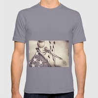 D-Fly Draw Mens Fitted Tee Slate SMALL
