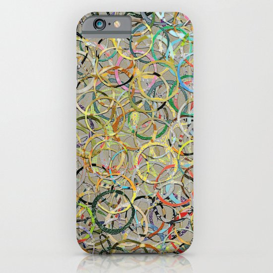 Rainbow Circles Collage iPhone & iPod Case