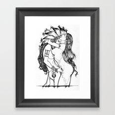 Sapphic hippies  Framed Art Print