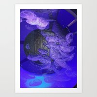 Acrylic Jelly Fish Art Print