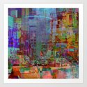 Somewhere in the city Art Print