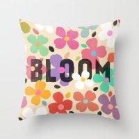 Bloom - Galaxy Eyes & Ga… Throw Pillow