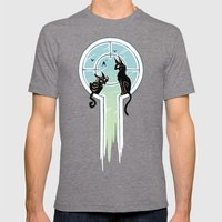 Window Cats Mens Fitted Tee Tri-Grey SMALL