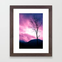 Into The Pink & Purple S… Framed Art Print