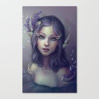 Lavender And Shells Canvas Print