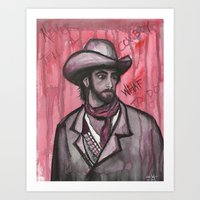 Never Tell A Cowboy What… Art Print