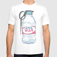 Water Bottle Grenade  Mens Fitted Tee White SMALL