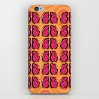 Pink And Orange Butterfl… iPhone & iPod Skin