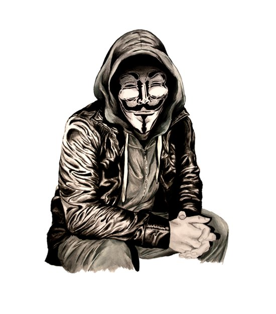 Anonymous Gangster Art Print