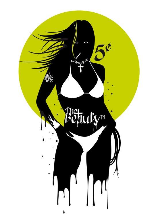 She wants to dance - Green Yellow version. Art Print