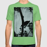 The bird Mens Fitted Tee Grass SMALL