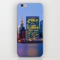 Beginning of the night over Manhattan iPhone & iPod Skin