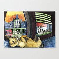 Roxy and Friends  Canvas Print