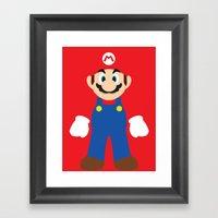 Mario - Minimalist - Nin… Framed Art Print