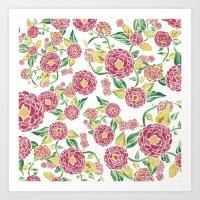 Camellia Japonica Floral… Art Print