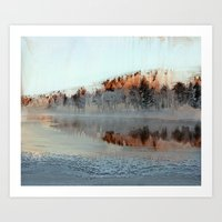 Among Mountains And Lake… Art Print