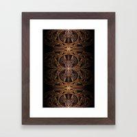 Steampunk Engine Abstract Fractal Art Framed Art Print