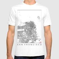 T-shirt featuring San Francisco Schwarzpla… by City Map Art