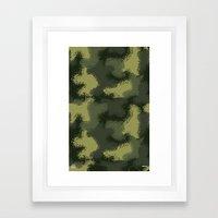 MPat Camouflage Pattern Framed Art Print