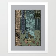 Art Print featuring Keeper Of The Grove by Hinterlund
