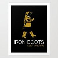 Iron Boots Art Print