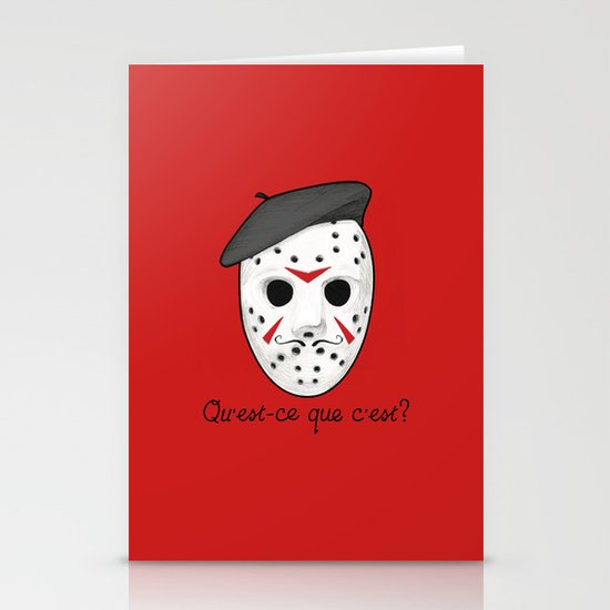 Psycho Killer Stationery Card
