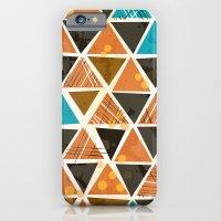 Tribal Triangles - orange iPhone 6 Slim Case