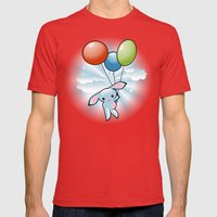 Cute Little Blue Bunny F… Mens Fitted Tee Red SMALL
