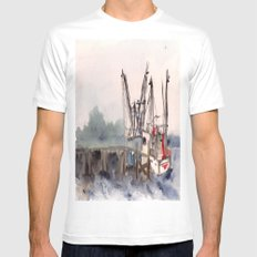 Mayport 3 of 3 SMALL White Mens Fitted Tee