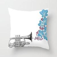 cornet. Throw Pillow