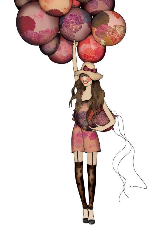 Le Ballon // Birthday IV Art Print